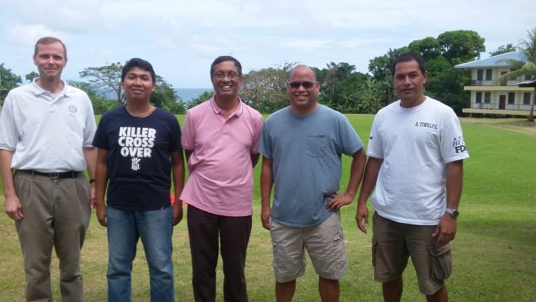Tom Benz, SIwi, Rm. Sunu, Martin Carl, Dickson dalam kunjungan ke mikronesia