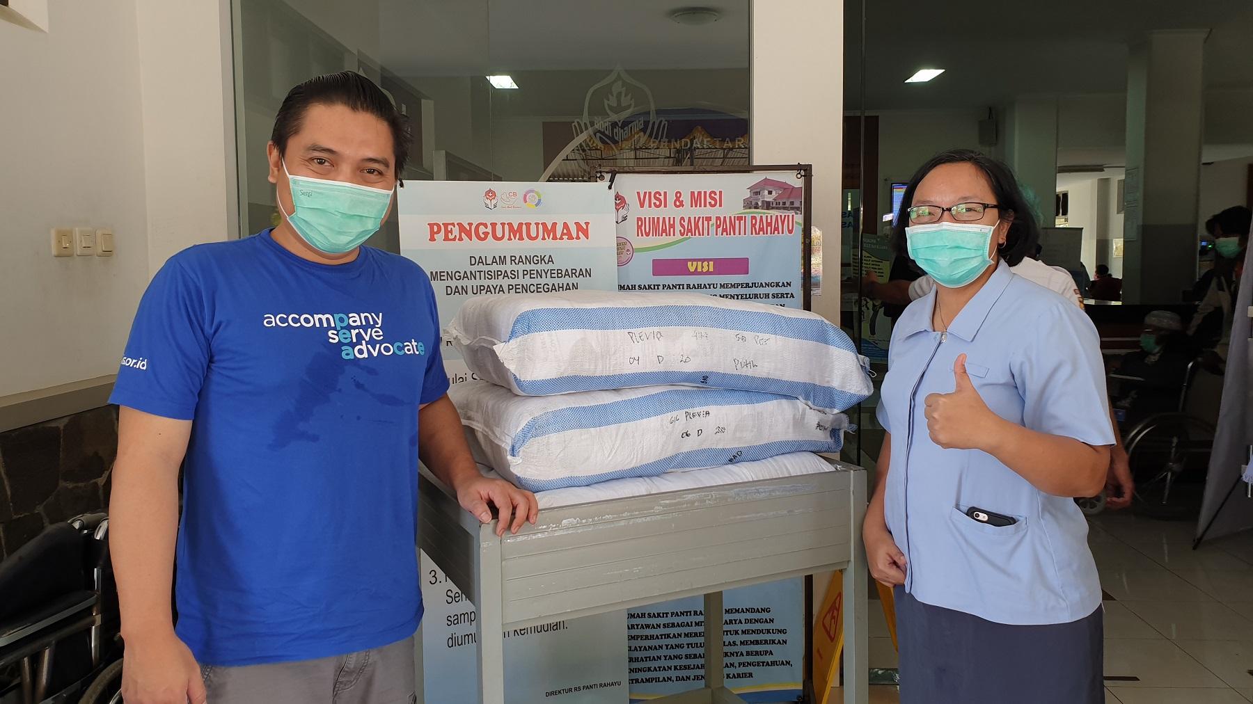 Bantuan APD untuk RS Panti Rahayu, Wonosari