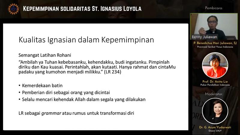 Webinar 3:  Kepemimpinan Solidaritas St. Ignatius Loyola