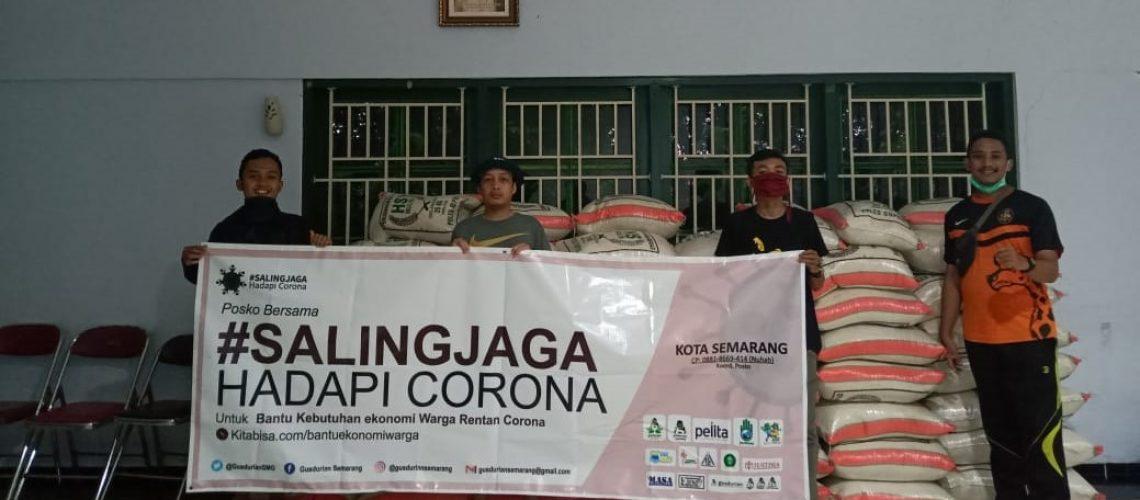 Aula Gereja Santa Theresia Bongsari Semarang digunakan untuk menyimpan logistik bantuan yang akan disalurkan oleh Komumitas Gusdurian dan teman-teman lintas agama dalam rangka membantu masyarakat yang t